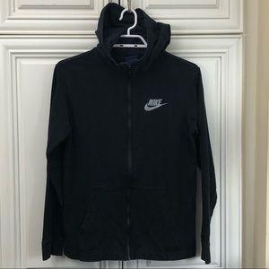 Nike black zip hoodie